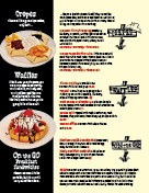 Ala Carte page of menu
